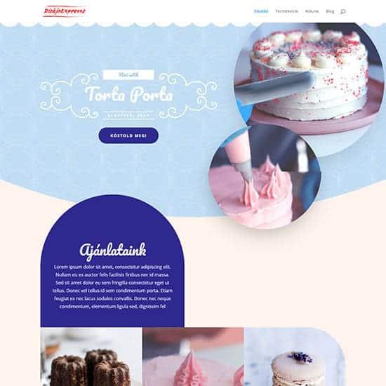 Cukrászda honlap