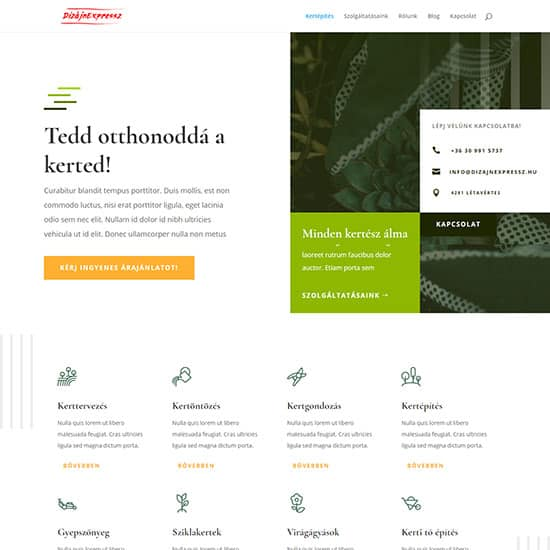 Kertépítés honlap