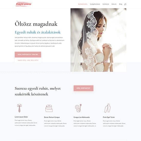 Varrónő weboldal